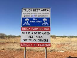 You are not driving a truck. Move onto a regular rest stop. Plan your travels to include breaks but plan them to allow others to take their breaks too.